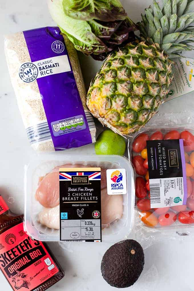 Ingredients from Aldi for making BBQ pulled chicken in the cropckpot
