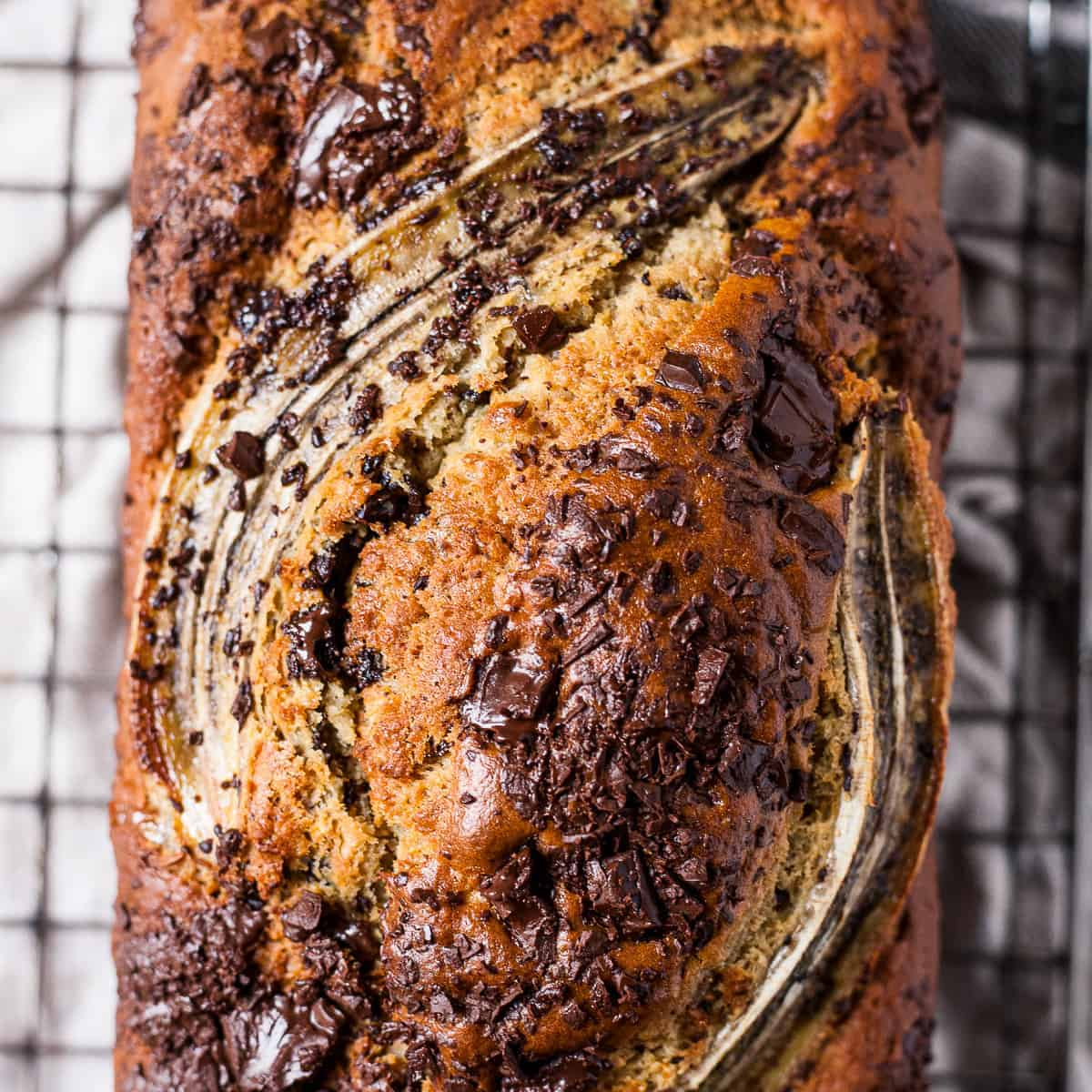 Easy banana bread with chocolate. Uk measurements and Aldi ingredients.