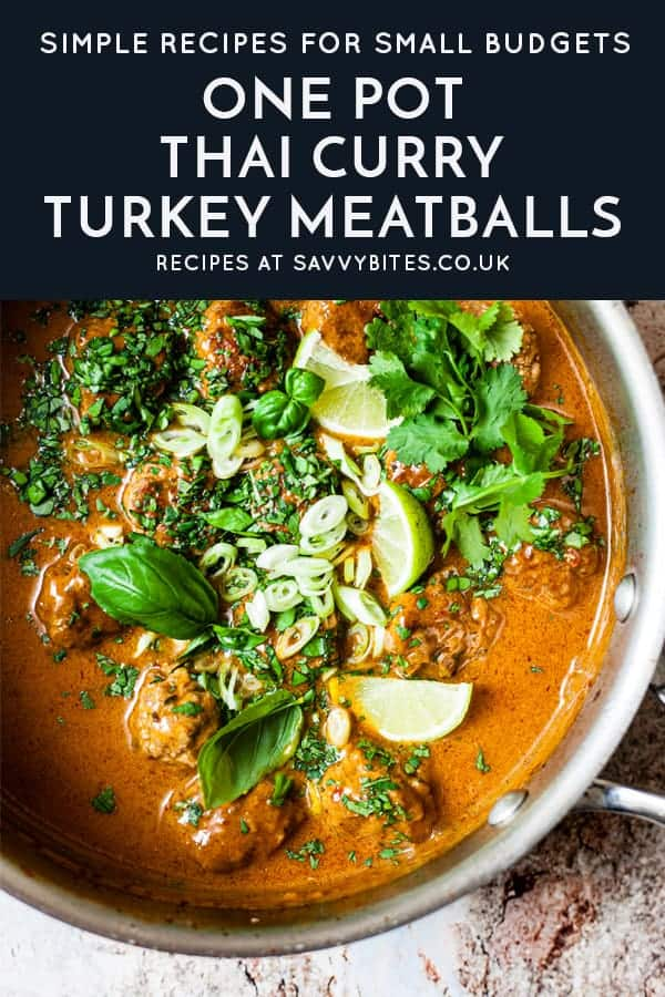The Best (& Easiest) Turkey Meatballs in Red Curry Sauce ...