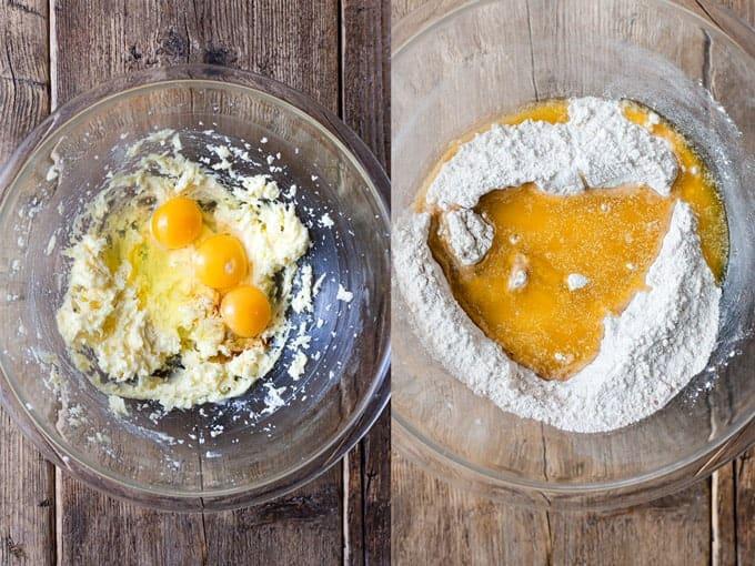 Easy Apple cake Step 1 & 2. Using Aldi Ingredients