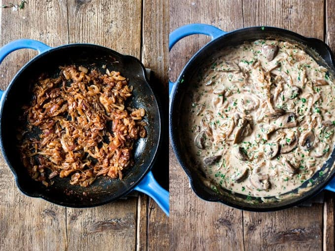creamy mushroom pasta bake with cheese Aldi ingredients.