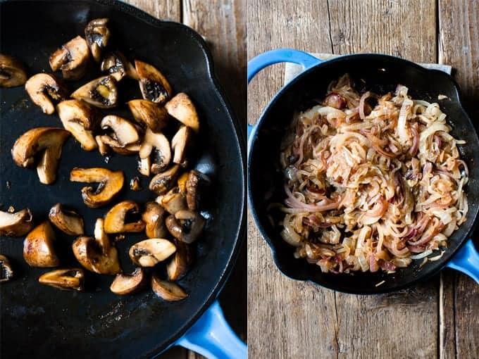 pasta bake step 1 & 2 mushroom pasta