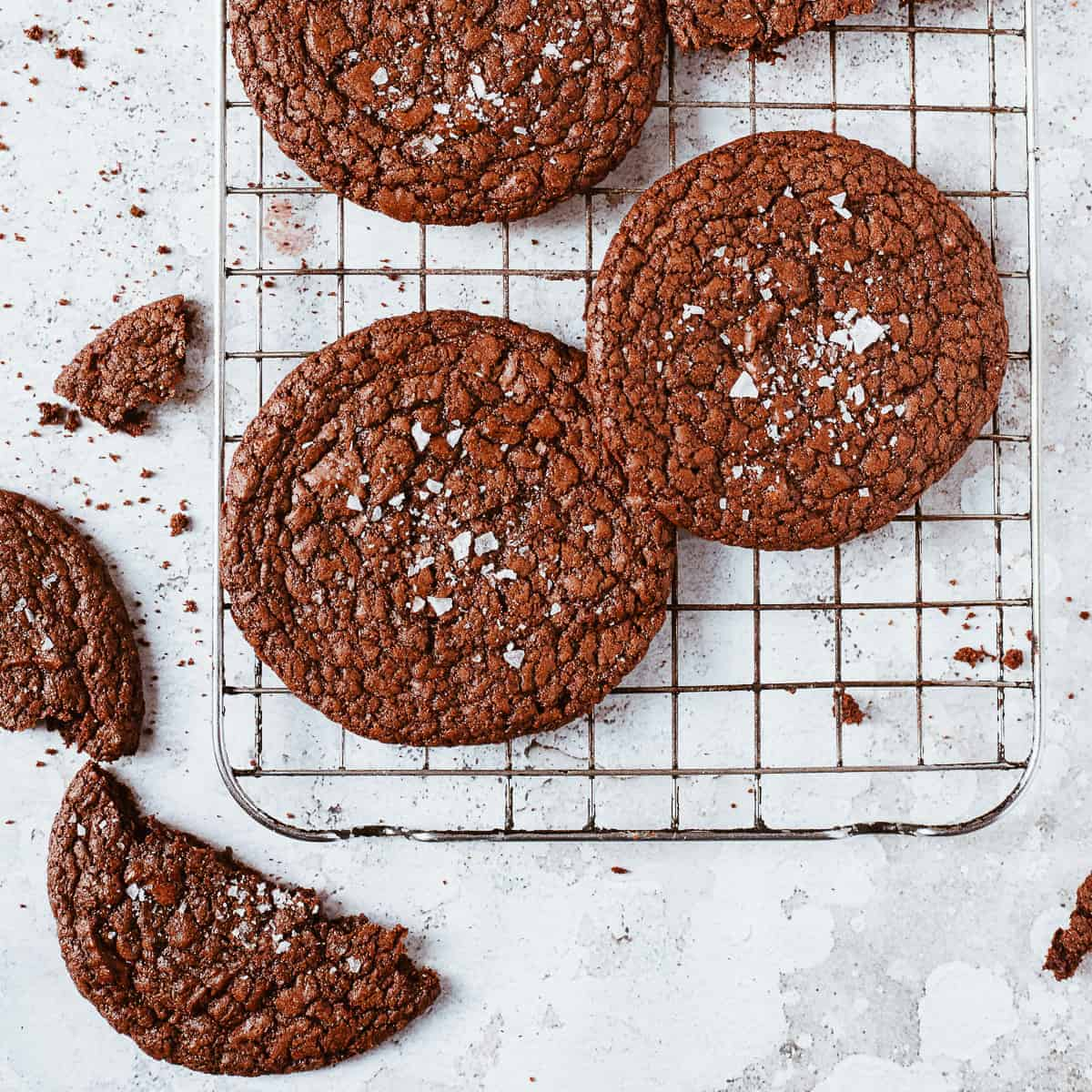 salted chocolate biscuits using Aldi ingredients.
