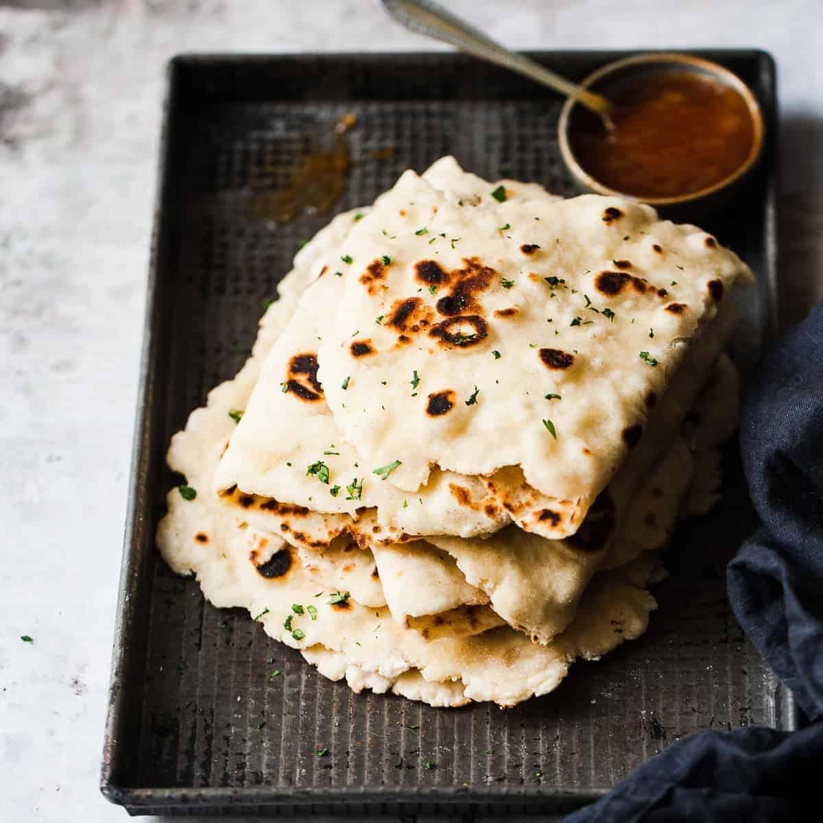 naan bread using only 2 ingredients. Simple yeast free.