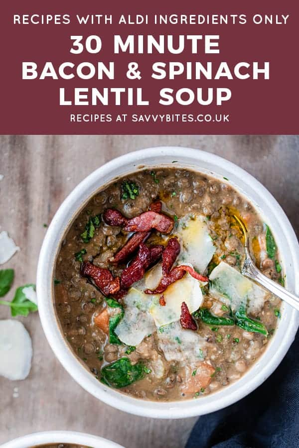 bacon spinach lentil soup