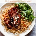 crispy chilli beef with text overlay.