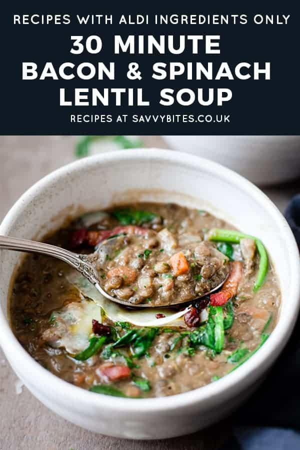 30 minute lentil soup with bacon