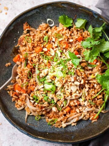 Quick and easy egg fried rice made with Aldi ingredients.