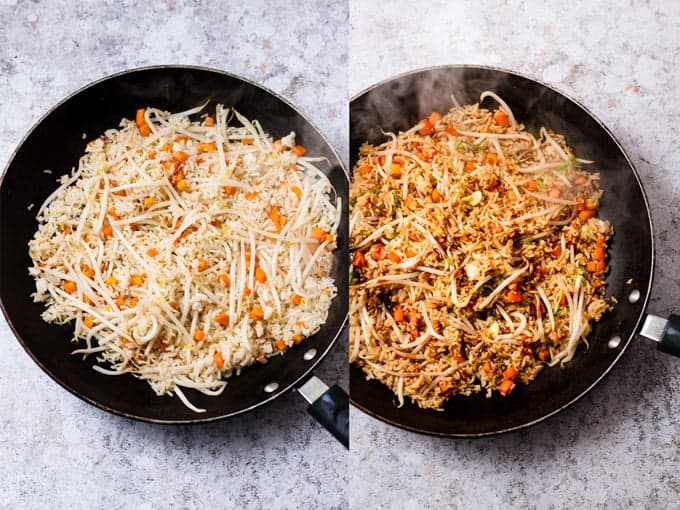 Making Fried Rice Step 3 & 4