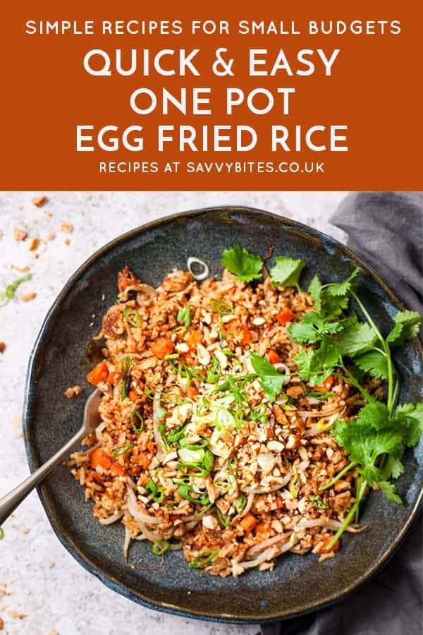 One Pot Fried Rice with text overlay All ingredients from Aldi UK
