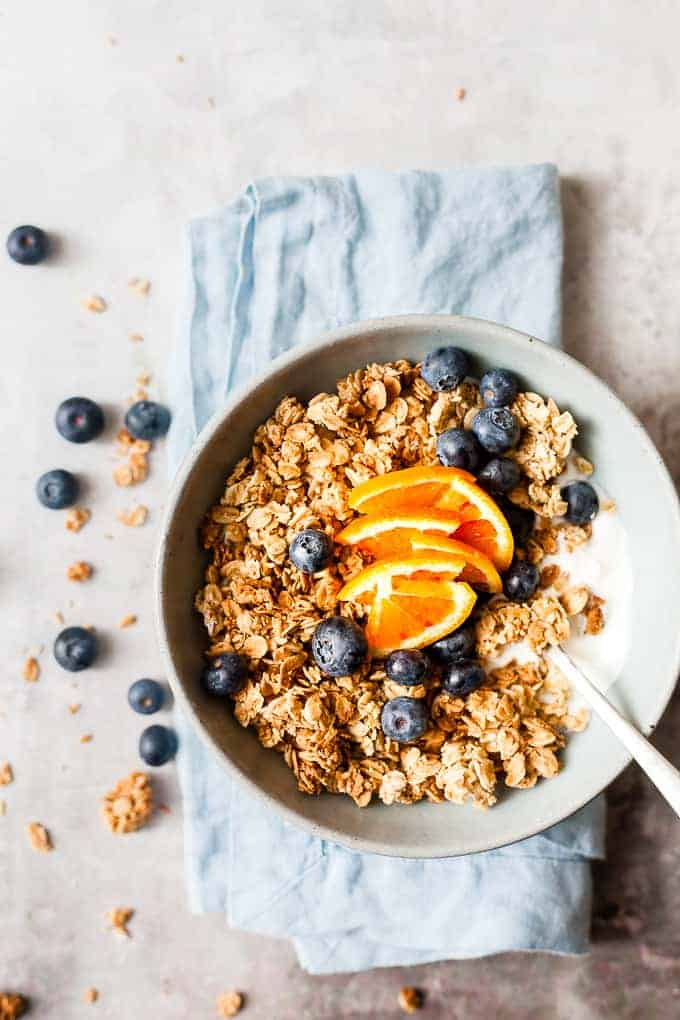how to make granola without honey step by step
