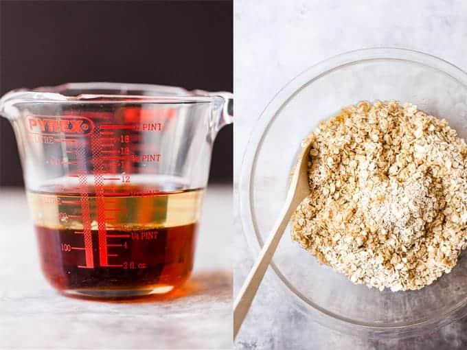 Step 1 & 2 for making homemade granola.