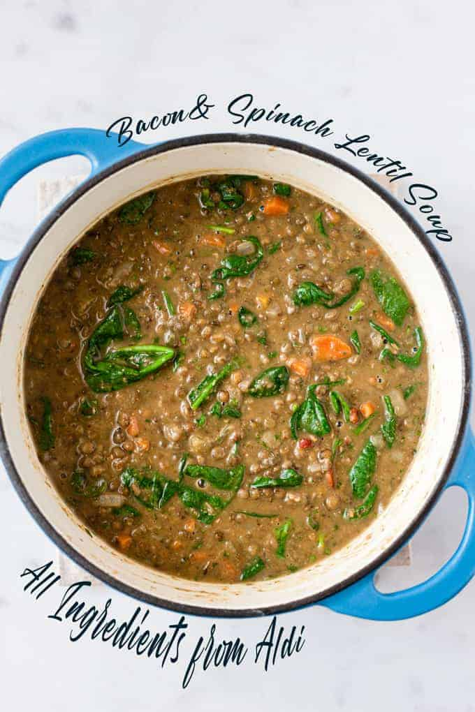 lentil soup with text overlay