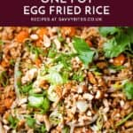 One Pot Fried Rice with text overlay