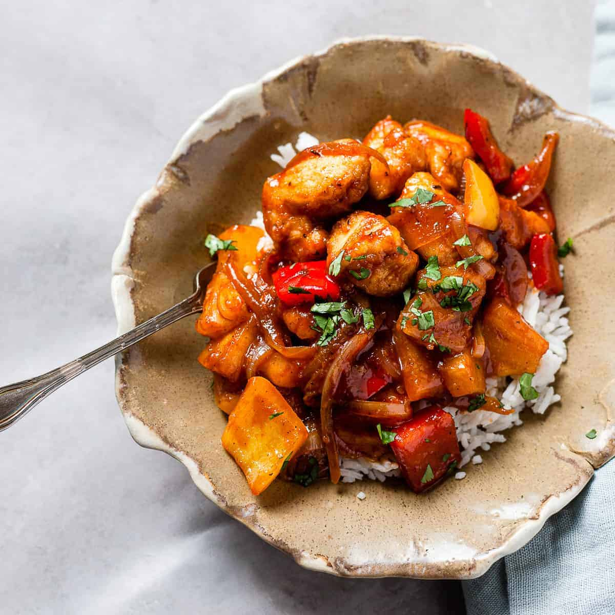 Easy Sweet And Sour Chicken Recipe Savvy Bites