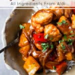 Sweet and sour chicken with Aldi ingredients