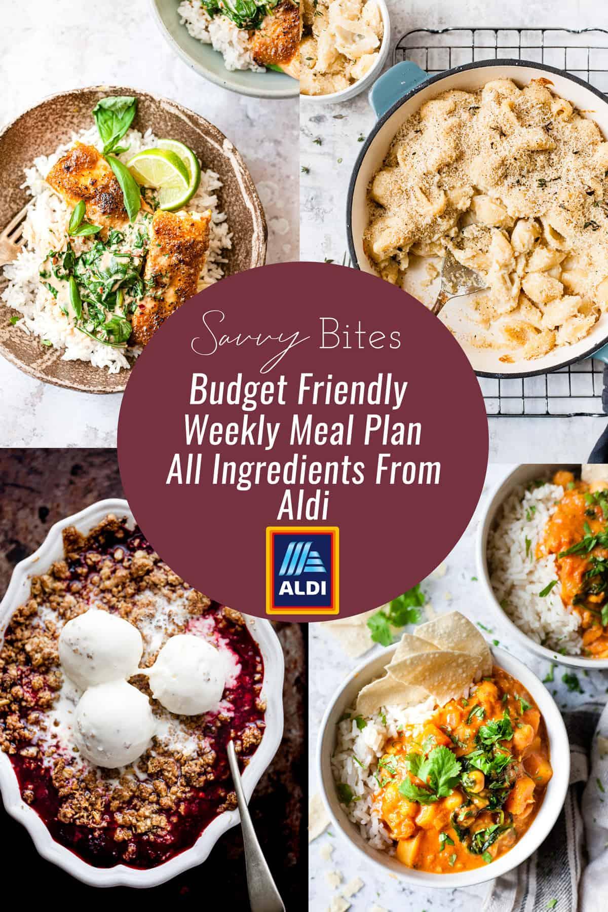 Budget friendly Aldi meal plan