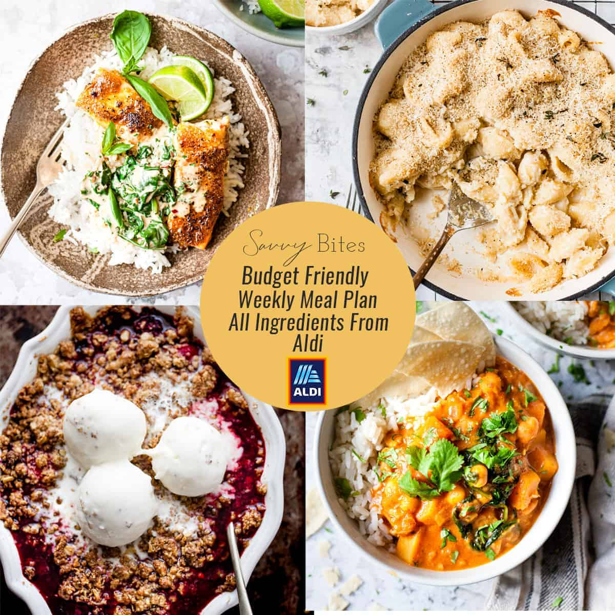 A budget friendly Aldi Meal plan