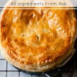 Chicken and mushroom pie using Aldi ingredients
