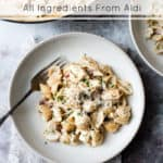 30 minute one pot chicken and bacon pasta.