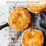 Easy chicken and mushroom pie using Aldi ingredients