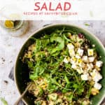 simple couscous salad with feta and rocket.