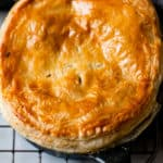 puff pastry topped chicken and mushroom pie