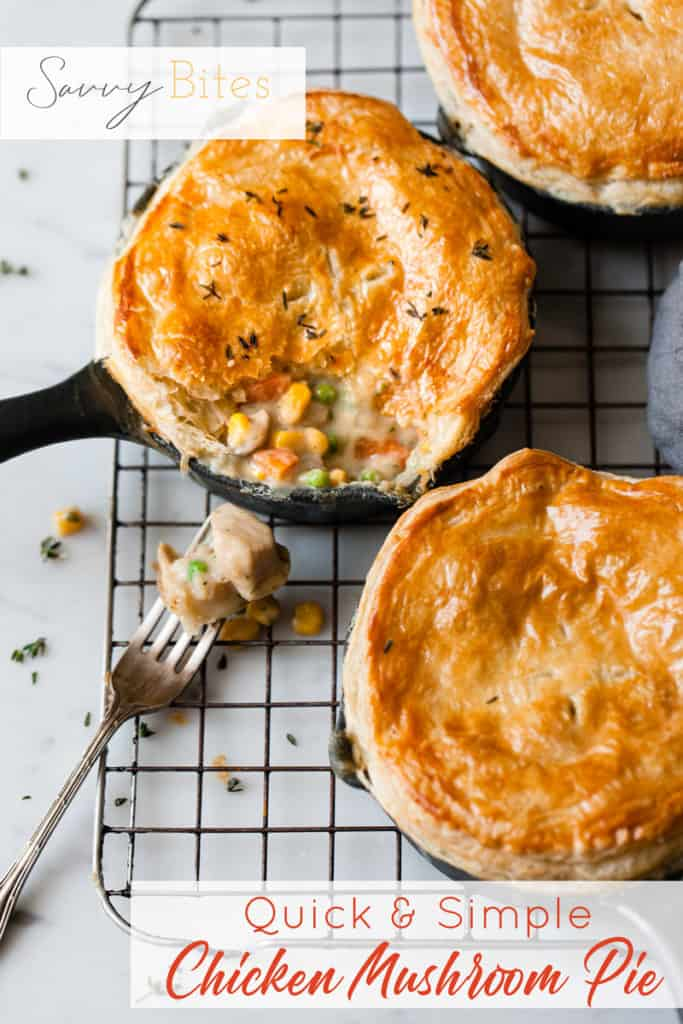 easy chicken and mushroom pie using aldi ingredients
