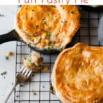 Creamy and easy chicken and mushroom pie using Aldi ingredients