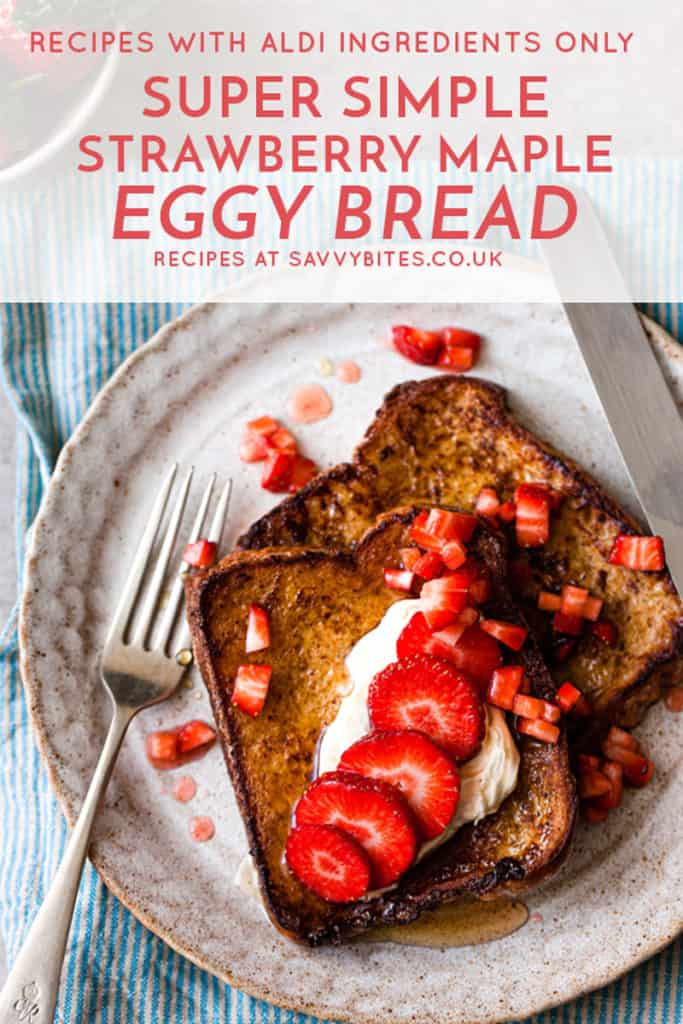 eggy bread with Aldi ingredients