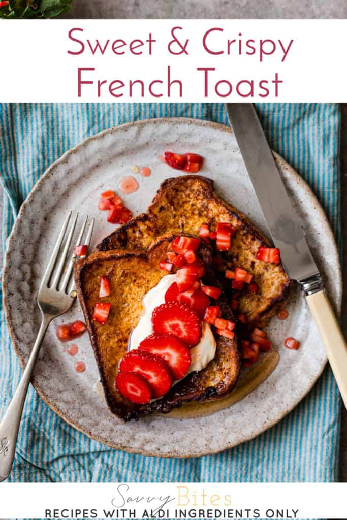 french toast eggy bread with text overlay