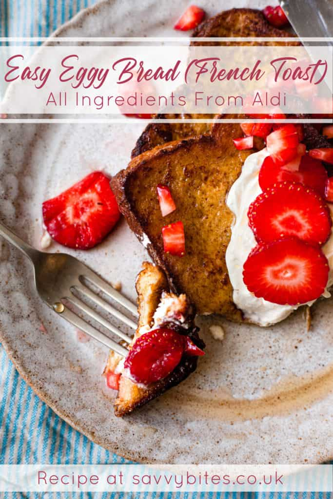 eggy bread with strawberries Aldi ingredients