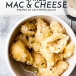 homemade mac and cheese using ingredients from Aldi.