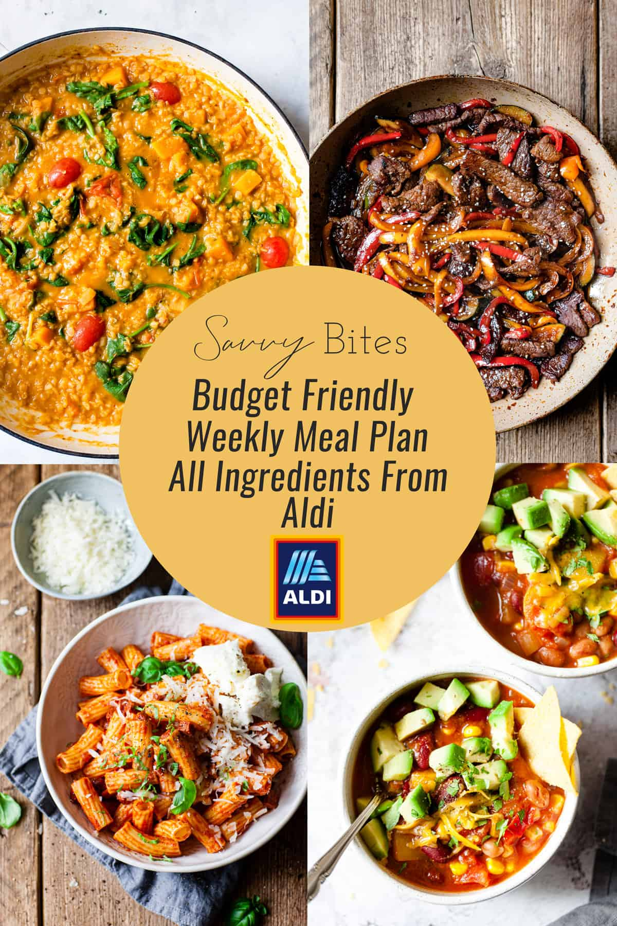 Aldi meal plan including budget friendly recipes and how to photos.