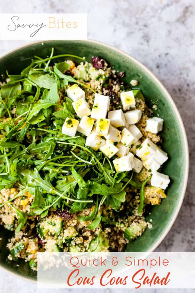 Couscous salad with feta and rocket