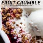 easy 5 ingredient fruit crumble