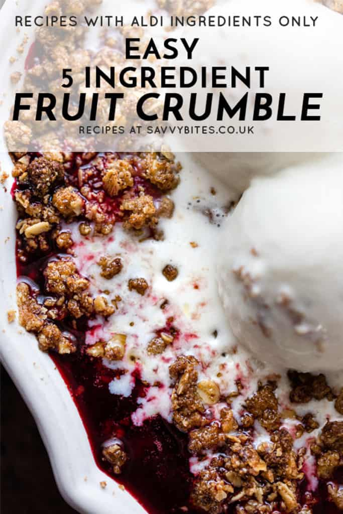 easy 5 ingredient fruit crumble