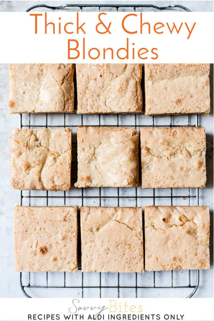 Aldi UK blondies recipe with white chocolate.