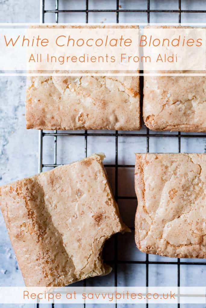 Fail proof blondies with Aldi ingredients.