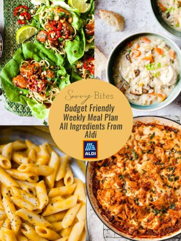 weekly meal plan recipe collage