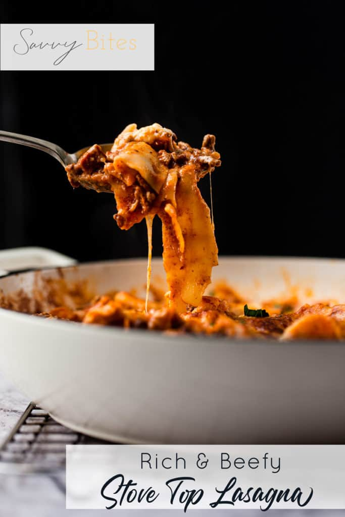 Easy lasagna with cheese strings
