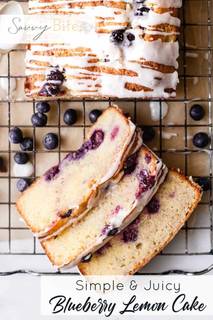 Lemon blueberry cake using Aldi ingredients.