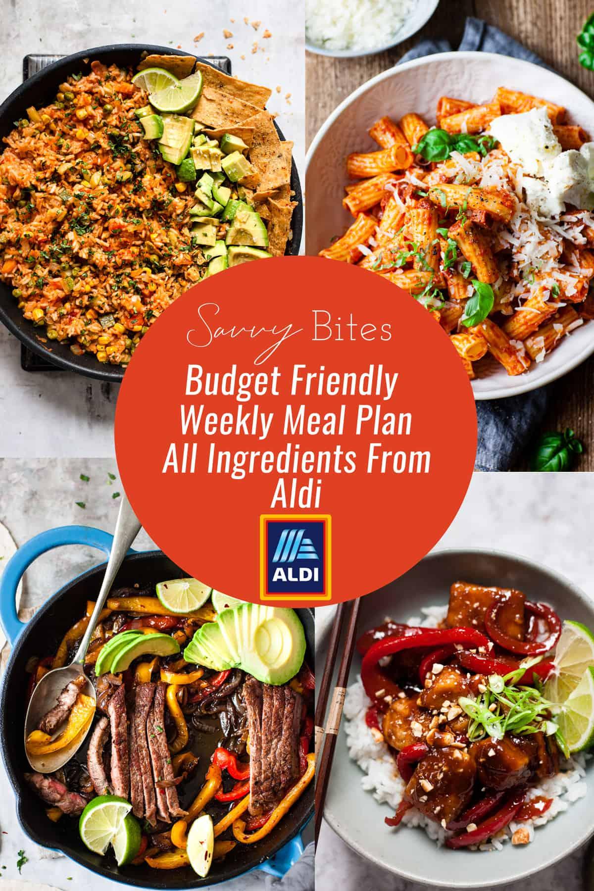 Aldi meal plan weekly budget meal plan