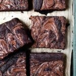 Cut nutella brownies using Aldi ingredients