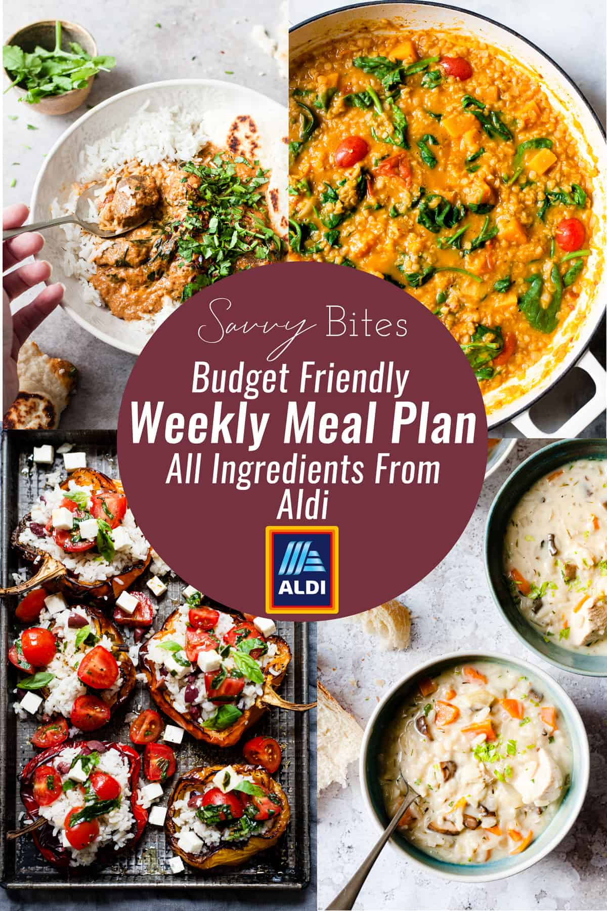 Aldi meal plan with budget friendly recipes.