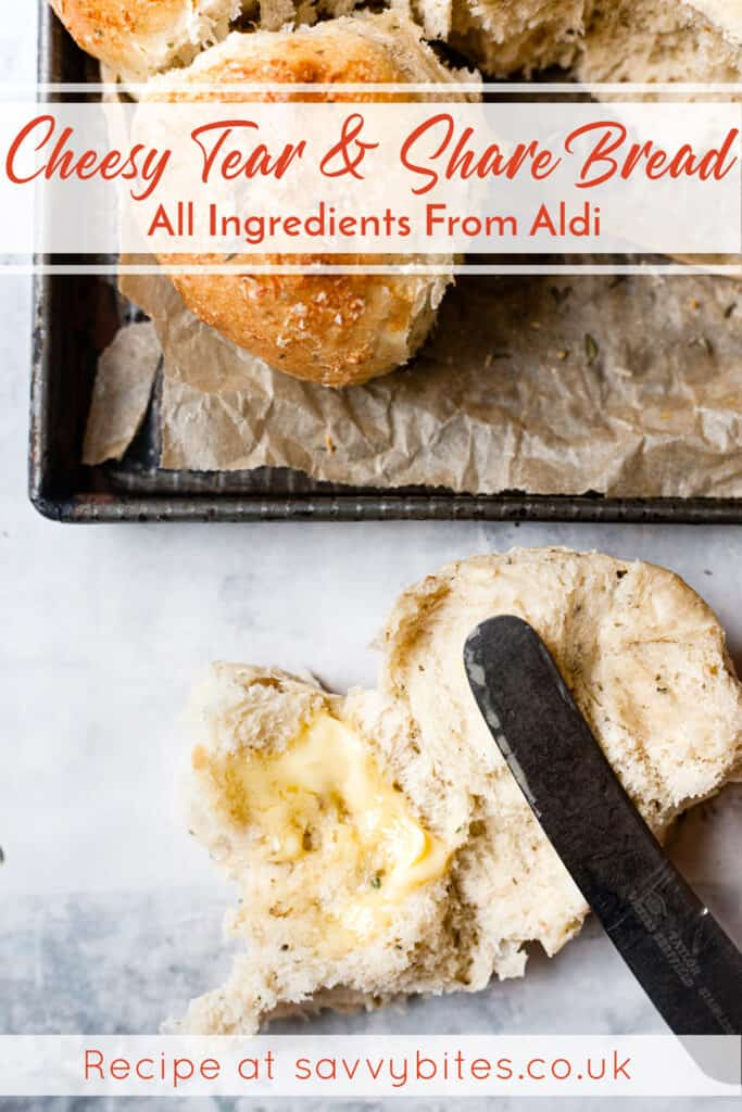 Tear and share bread Aldi ingredients.