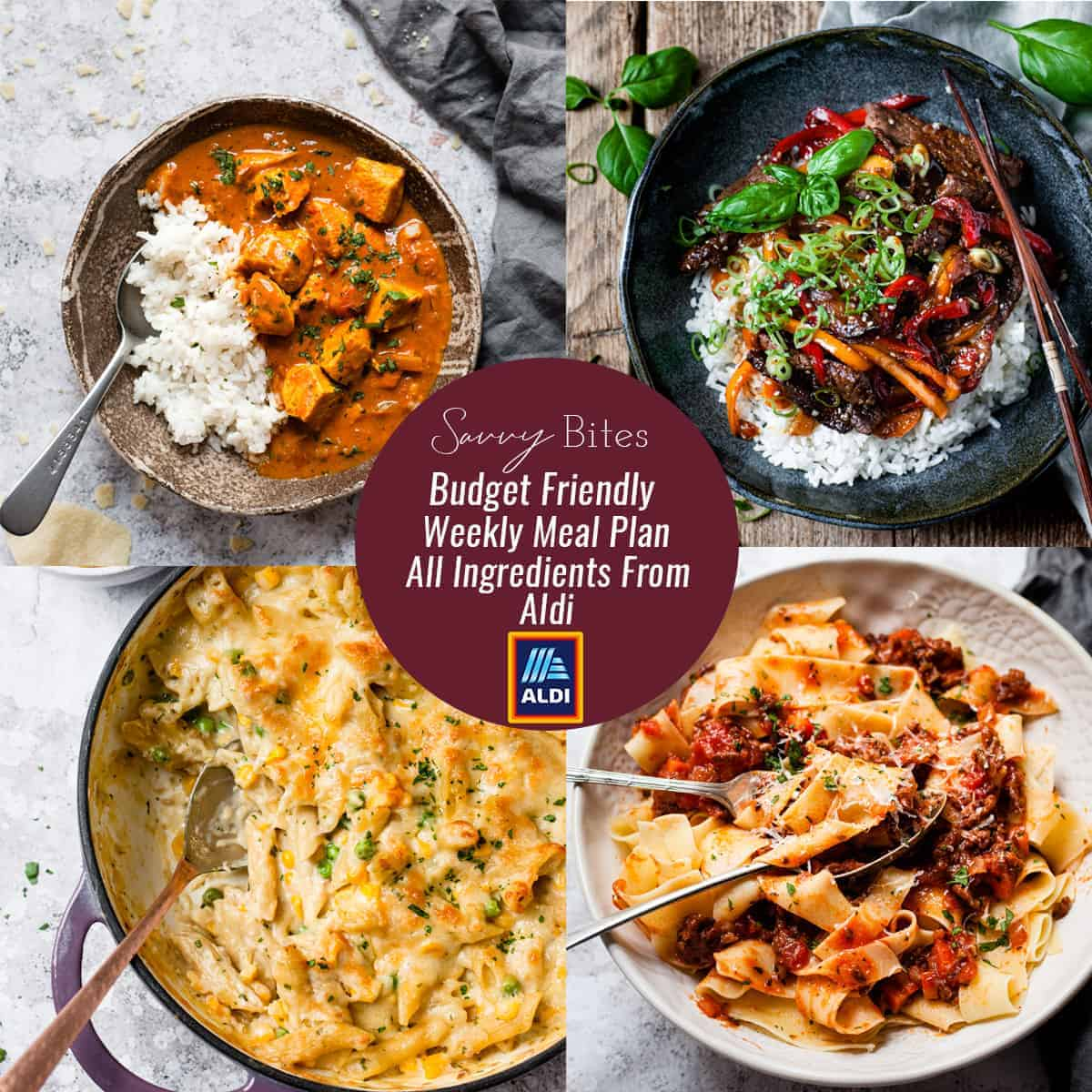 Aldi Meal Plan Budget menu
