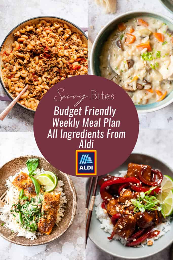 Aldi budget meal plan