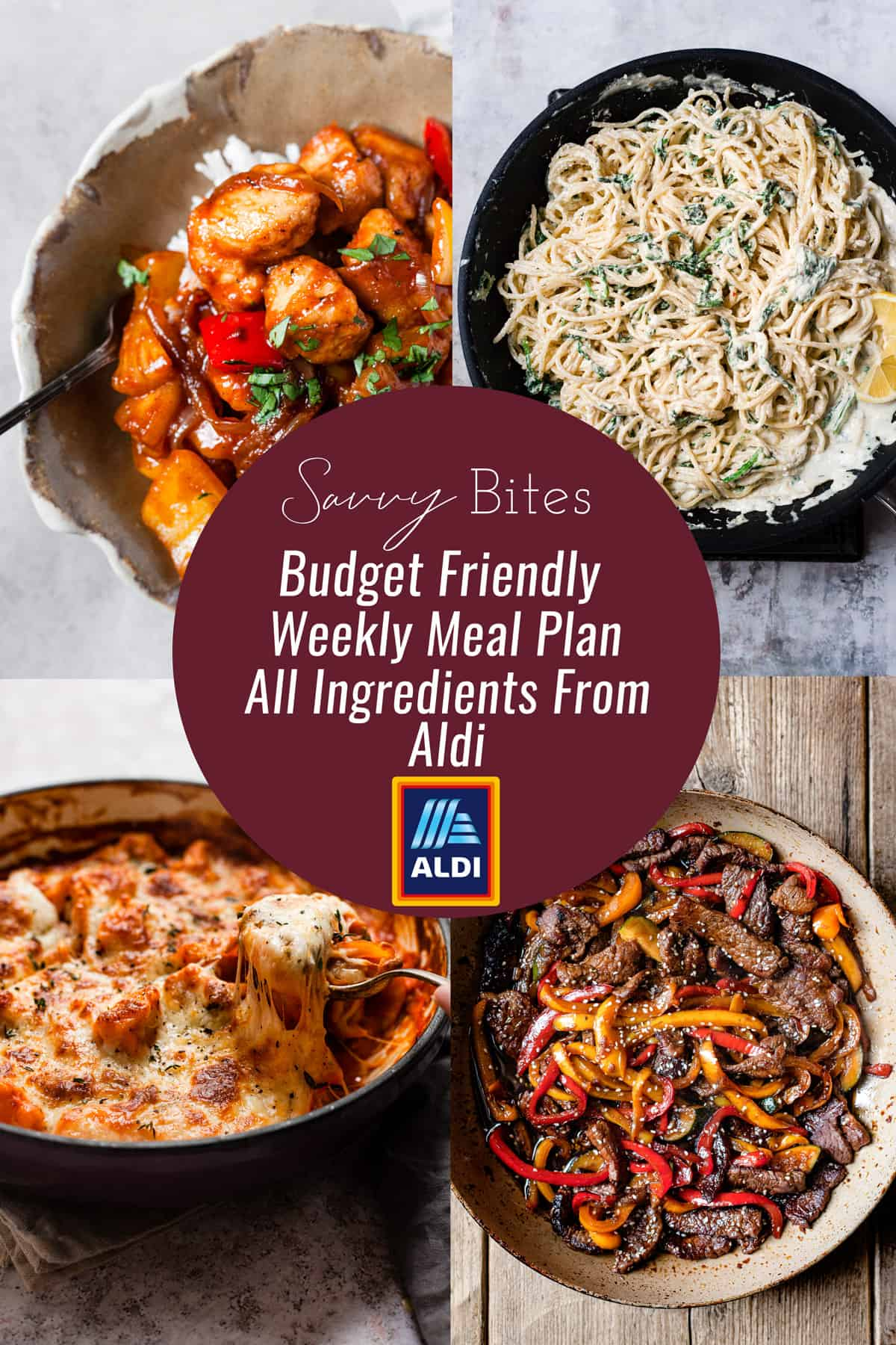 Aldi budget meal plan recipes