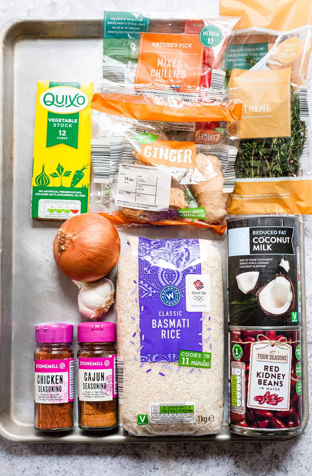 Aldi ingredients for Jamaican rice and peas